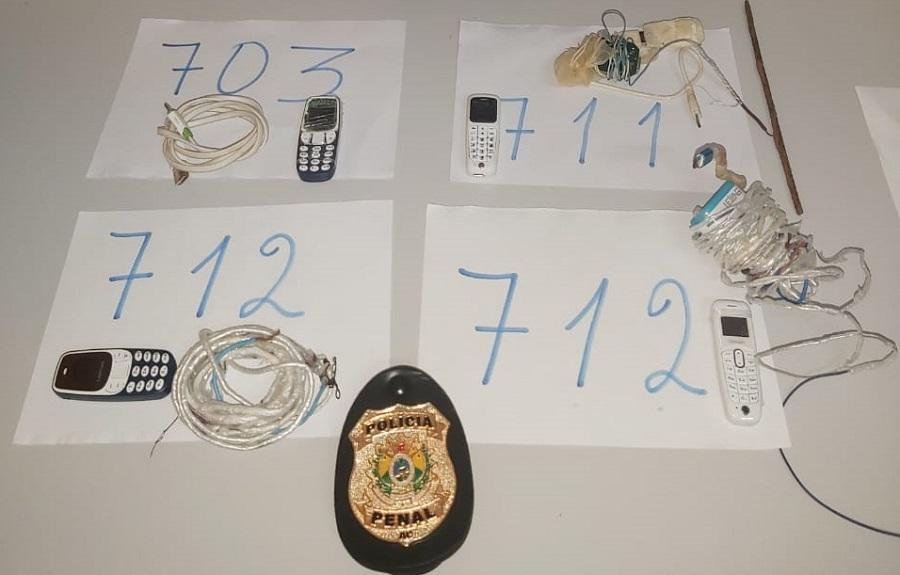 Polícia apreende celulares durante operação no presídio de CZS