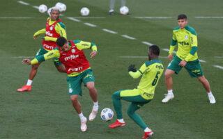 CANAL OFICIAL: Palmeiras realiza ensaios táticos e fecha mais um dia de preparação para o Choque-Rei